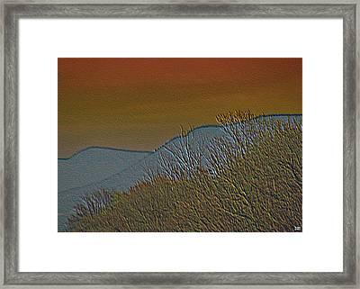 Mountain Ridge Glow Framed Print