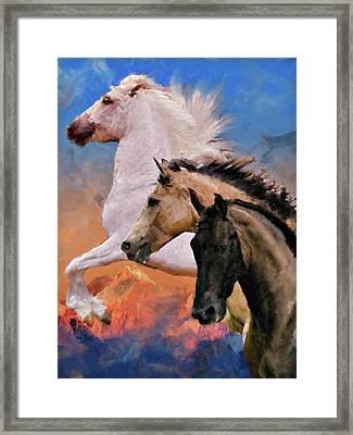 Mountain Ridge Royalty Framed Print