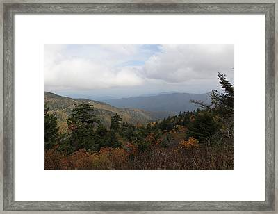 Mountain Ridge View Framed Print
