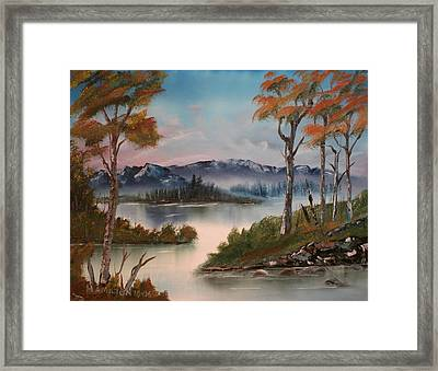 Mountain River Framed Print by Larry Hamilton
