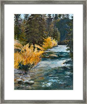 Mountain River Framed Print by Rita Bentley