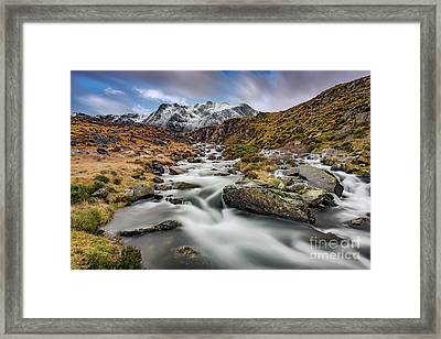 Mountain River Snowdonia  Framed Print