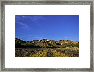 Mountain Road Framed Print by Brendan Quinn