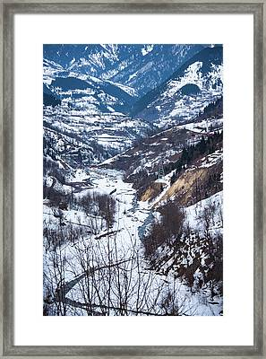 Mountain Road Framed Print by Svetlana Sewell