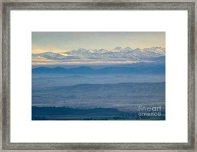 Mountain Scenery 11 Framed Print by Jean Bernard Roussilhe