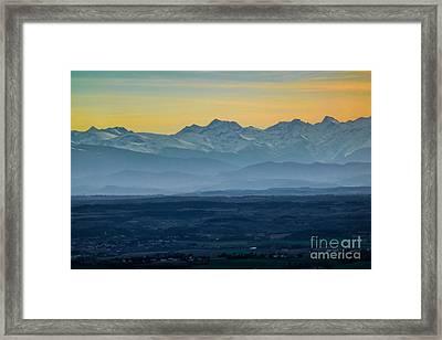 Mountain Scenery 12 Framed Print by Jean Bernard Roussilhe