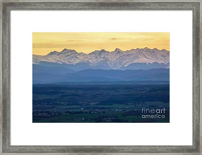 Mountain Scenery 15 Framed Print by Jean Bernard Roussilhe