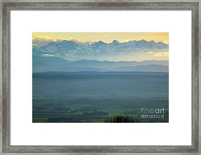 Mountain Scenery 18 Framed Print by Jean Bernard Roussilhe