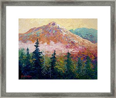 Mountain Sentinel Framed Print by Marion Rose