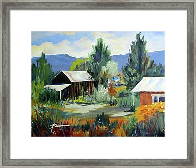 Mountain Settlement In New Mexico  Framed Print