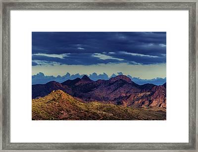 Mountain Shadow Framed Print
