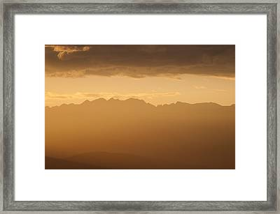 Mountain Shadows Framed Print by Colleen Coccia