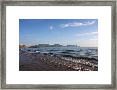 Mountain Shore Framed Print