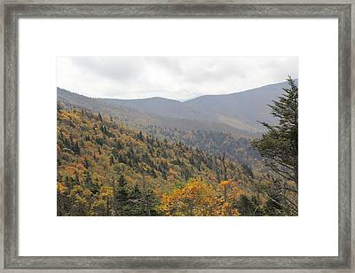 Mountain Side Long View Framed Print