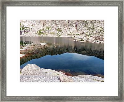 Mountain Side Reflection Framed Print