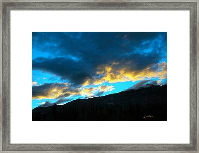 Mountain Silhouette Framed Print