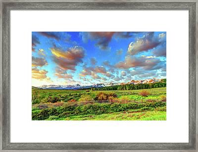 Mountain Skies Framed Print