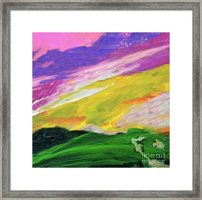 Mountain Skyscape Framed Print