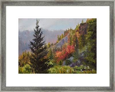 Mountain Slope Fall Framed Print