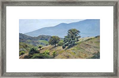 Mountain Slopes Framed Print