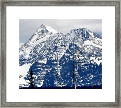 Mountain Snow Framed Print