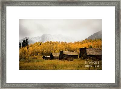 Mountain Snow Over Ashcroft Framed Print