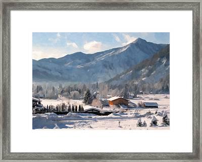 Mountain Snowscape Framed Print by Danny Smythe
