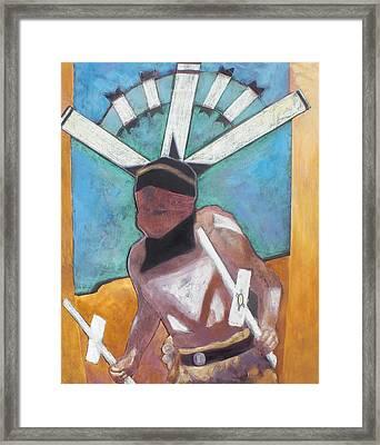 Mountain Spirit Dancer Framed Print by Jo Thompson