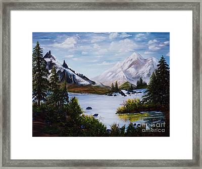 Mountain Splendor Framed Print by Myrna Walsh