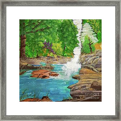 Mountain Spring Framed Print by Sharon Eng