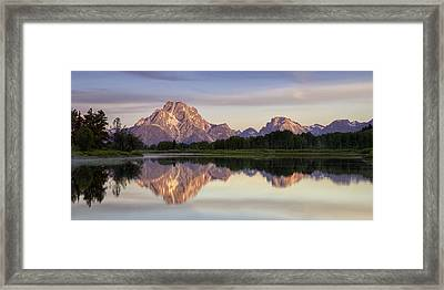 Mountain Stillness Framed Print by Andrew Soundarajan