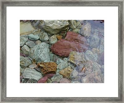 Mountain Stones Framed Print by Lisa Patti Konkol