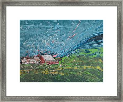 Strong Storm Framed Print