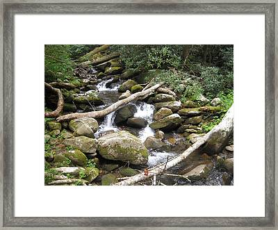Mountain Stream Framed Print by Christy Verstoep