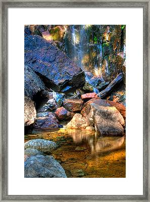 Framed Print featuring the photograph Mountain Stream by Greg DeBeck