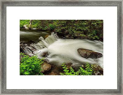 Mountain Stream Waterfall Framed Print by James BO  Insogna