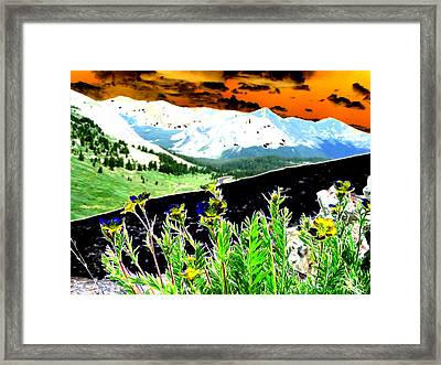 Mountain Summer Framed Print by Peter  McIntosh