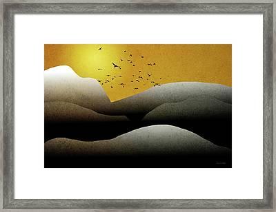 Mountain Sunrise Landscape Art Framed Print