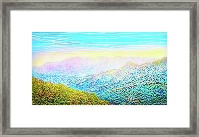 Mountain Sunrise Perceptions Framed Print