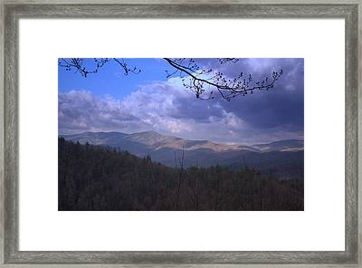 Mountain Sunrise Framed Print by Wayne Skeen