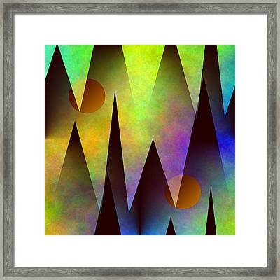 Mountain Sunset Abstract Framed Print
