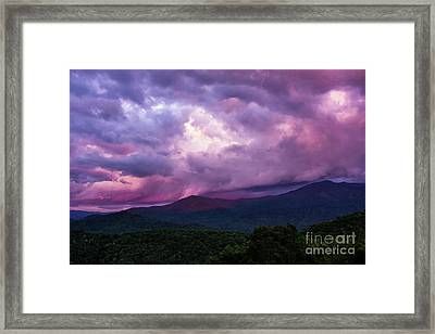 Mountain Sunset In The East Framed Print