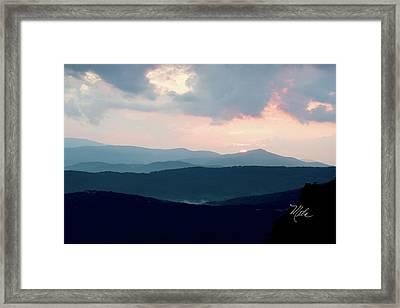 Framed Print featuring the photograph Blue Ridge Mountain Sunset by Meta Gatschenberger