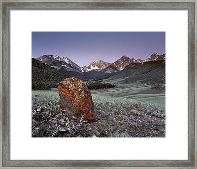 Mountain Textures And Light Framed Print by Leland D Howard