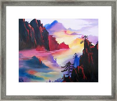 Mountain Top Sunrise Framed Print