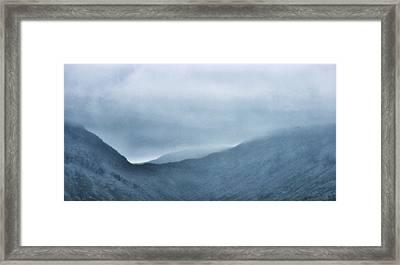 Mountain Tops Or Ocean Waves Framed Print