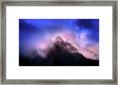 Framed Print featuring the photograph Mountain Twilight by John Poon
