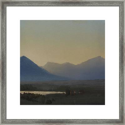 Framed Print featuring the painting Mountain Valley Sold by Cap Pannell
