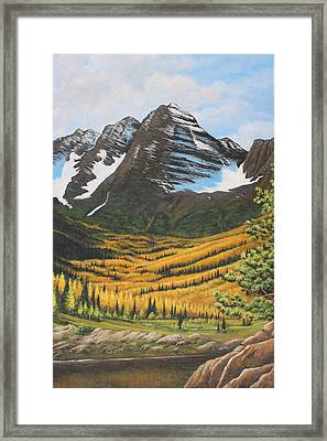 Mountain Valley Framed Print by Diana Miller