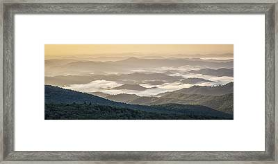 Mountain Valley Fog - Blue Ridge Parkway Framed Print